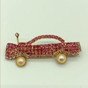 Jewelry - Pink Rhinestone Cadillac!  Has a sparkly antenna!!
